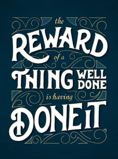 The Reward of a thing by Papaya - Creative Atelier