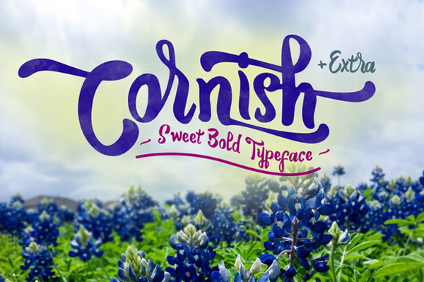Cornish is a Sweet Bold Typeface.
