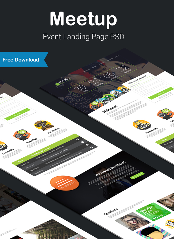 Meetup - Event Landing Page (Free Download)