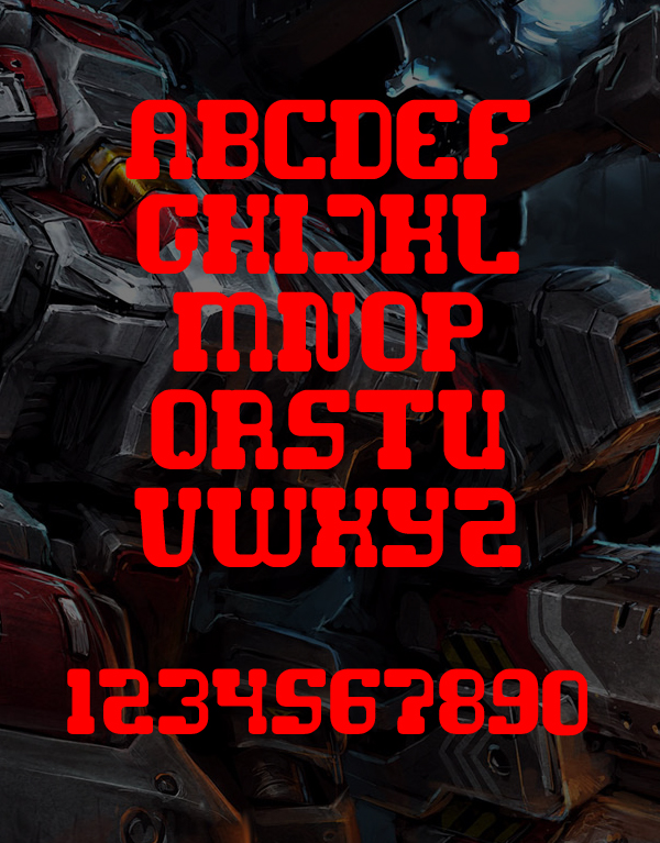 Game Robot fonts