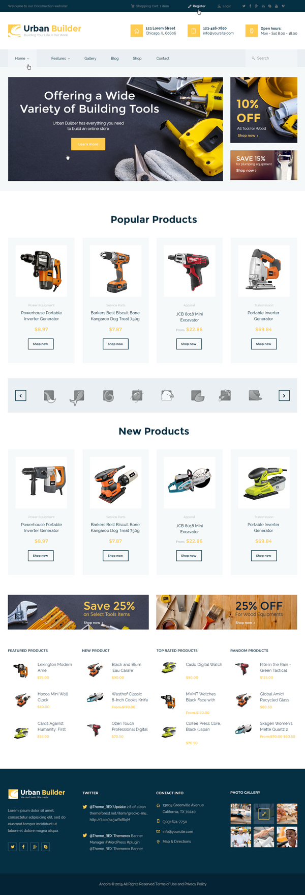 Urban Builder - Construction WordPress Theme