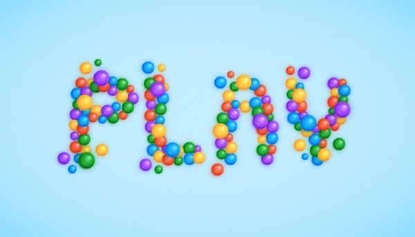 Create a Plastic Balls Text Effect in Adobe Illustrator