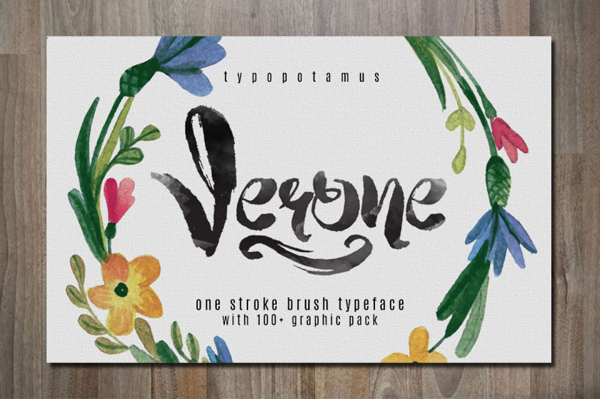 Verone is a 100% handmade typeface