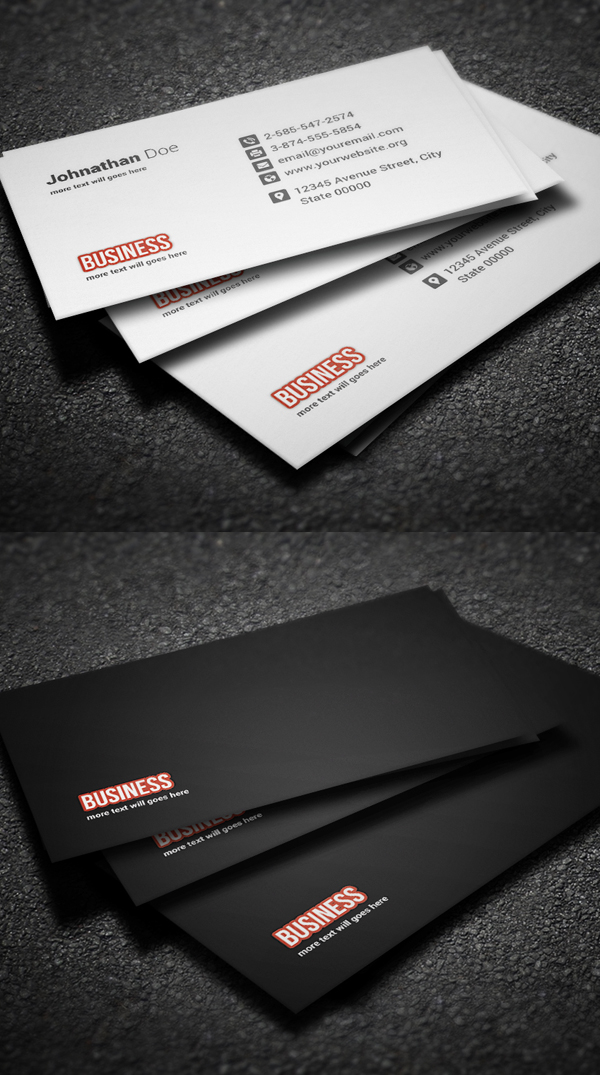 Corporate Minimal Business Card Template