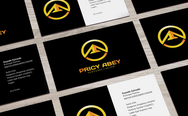 Pricy Abey Brand Business Card