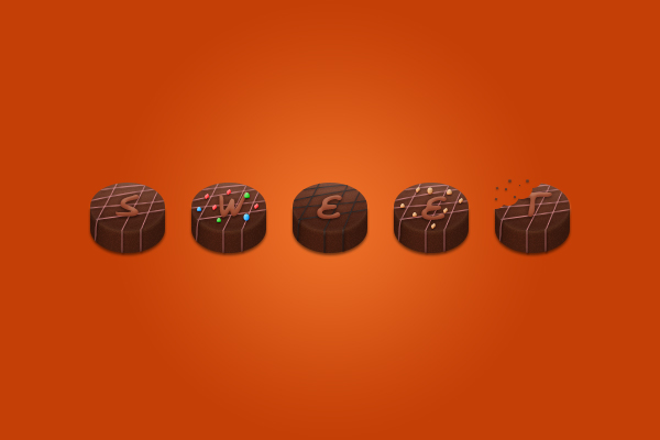 How to Create Chocolate Candies Text Effect in Photoshop