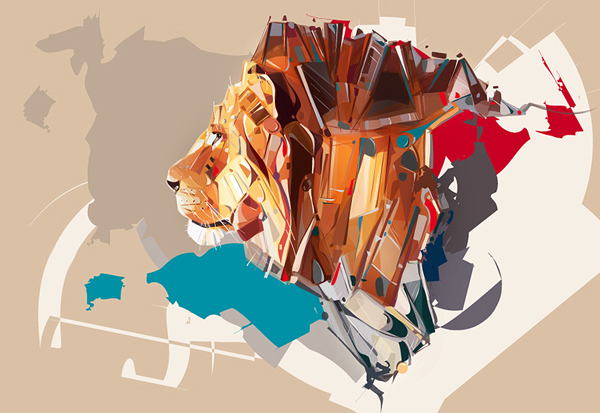 Lion Image Designed in Adobe Illustrator