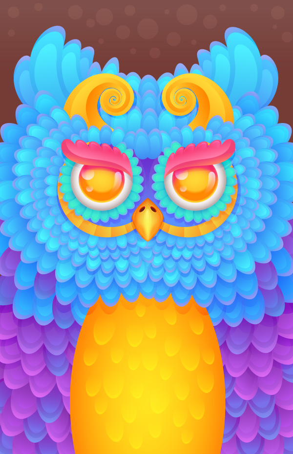Create a Radiant Owl iPhone Case Template in Adobe Illustrator