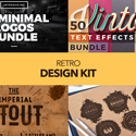Retro Design Kit –  600+ Logos, Fonts and Textures