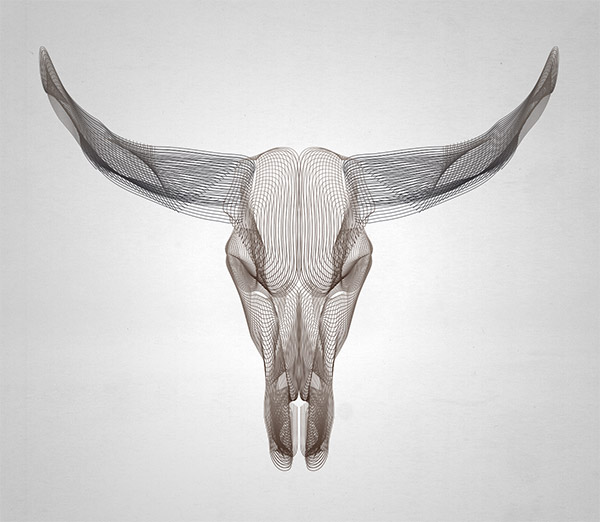 Wireframe Animal Skulls Using Illustrator's Blend Tool