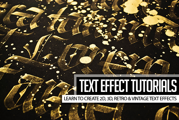 23 Creative Text Effect Photoshop & Illustrator Tutorials