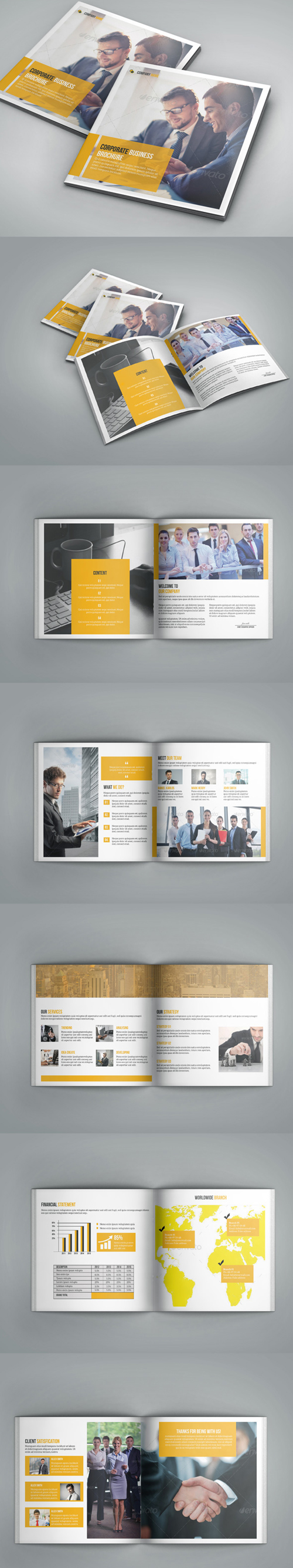 Square Bi-Fold Business Brochure Template