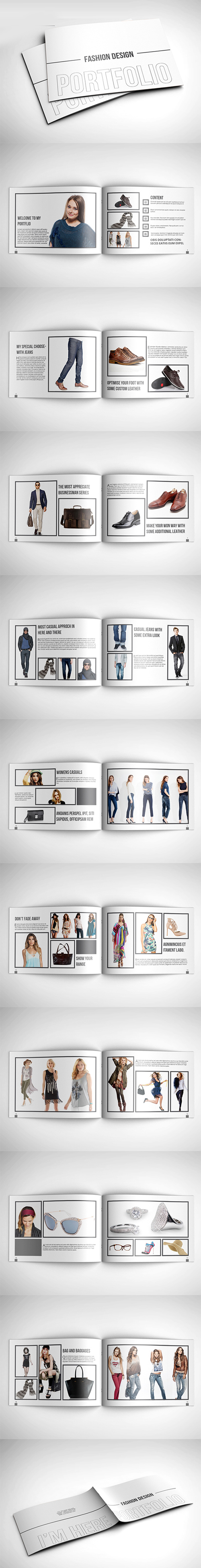 Fashion Design Portfolio Brochure