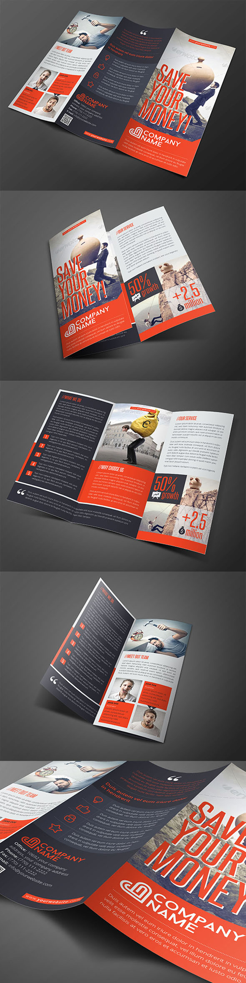 Corporate Trifold Brochure Template