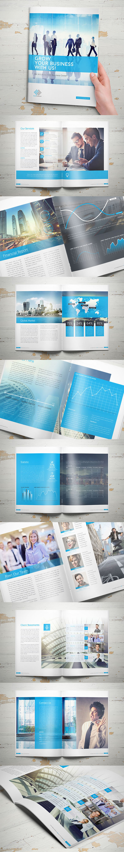 Blue Corporate Brochure Design