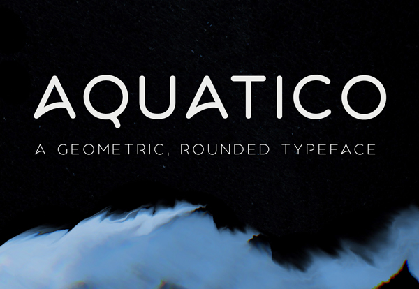 Aquatico rounded free font