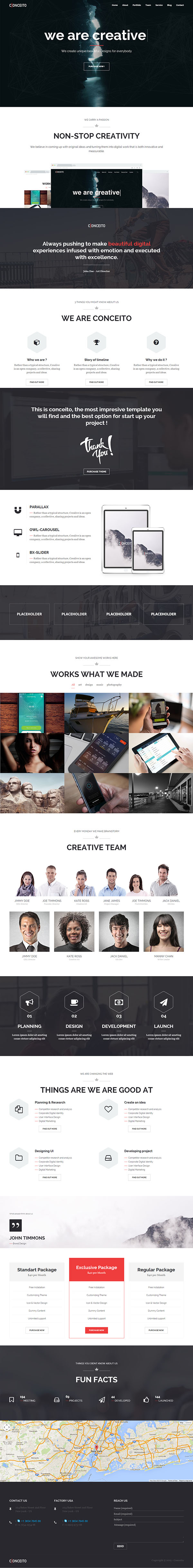 Conceito - Creative One Page Parallax WP Theme