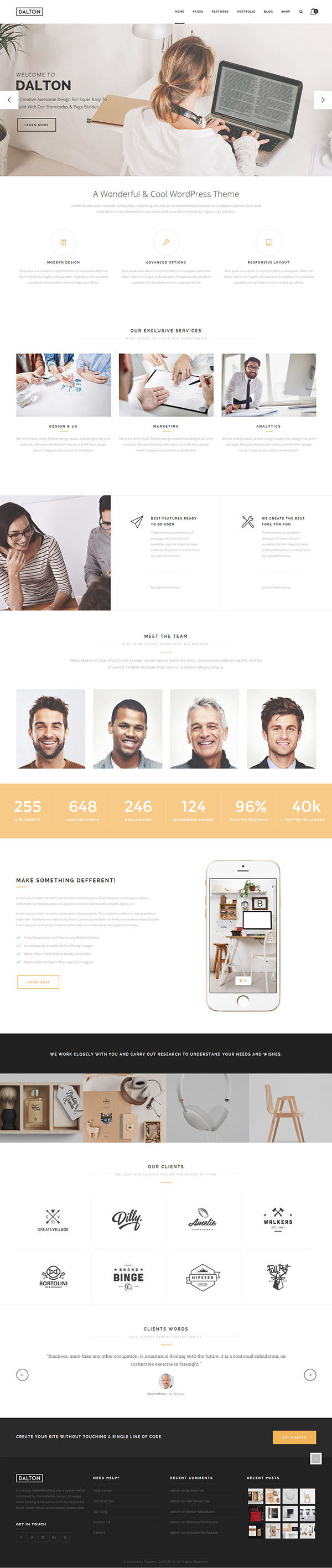 Dalton - Clean Multi-Purpose WordPress Theme