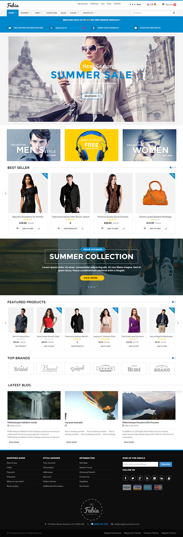 Fabia - Multipurpose WooCommerce Theme