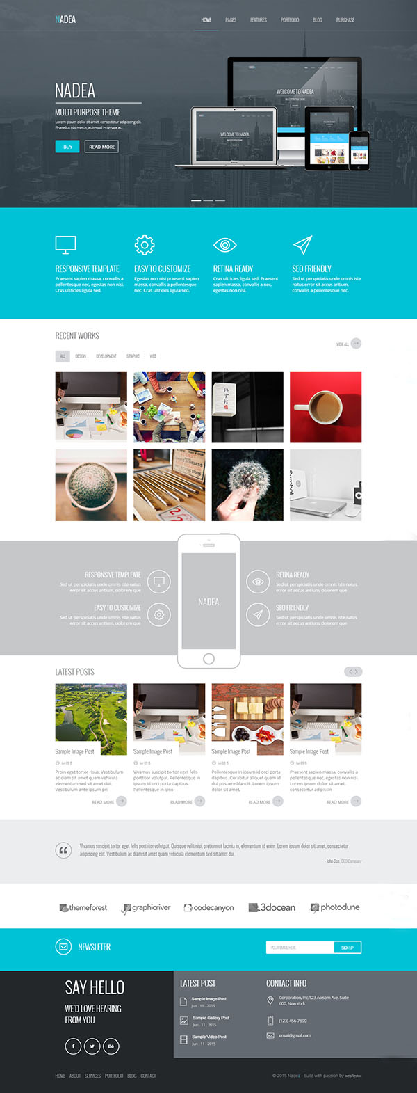 Nadea - Responsive Multi-Purpose WordPress Theme