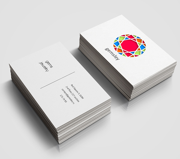 Store Gems & Jewelry Business Card Design