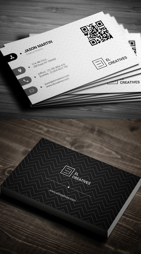 New corporate business card templates design graphic for Corporate business card designs