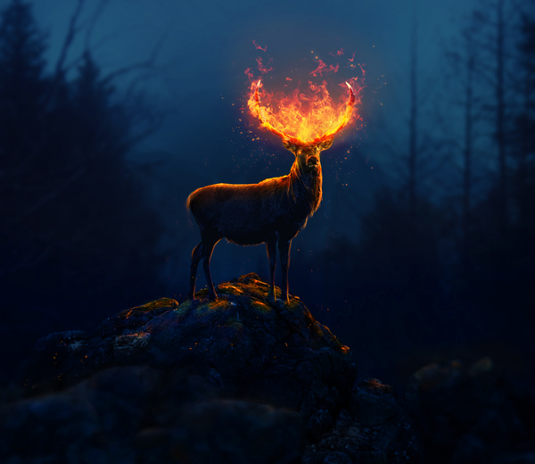 How to Create a Fantasy Flaming Deer With Adobe Photoshop