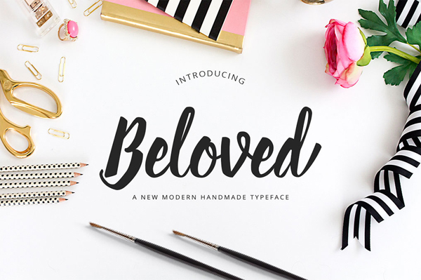 Beloved Script modern handwriting script Typeface