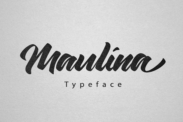 Maulina is a script typeface with personality