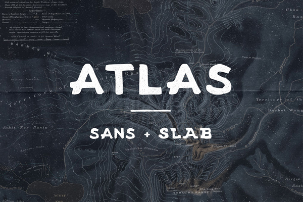 Atlas - A handmade sans and serif font