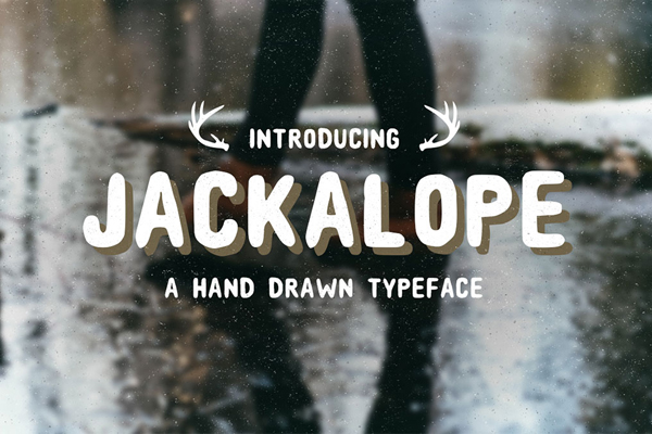 Jackalope is a hand drawn sans-serif font