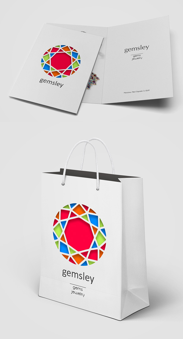 Store Gems & Jewelry Stationery Design