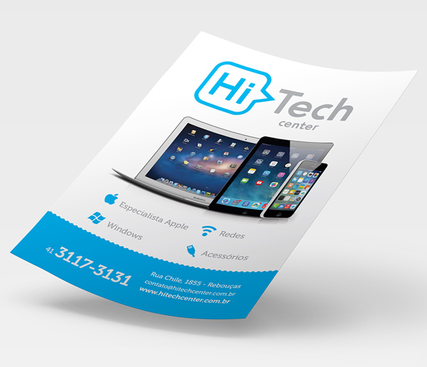 HiTech Center Stationery Design