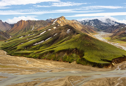 Landmannalaugar in the Icelandic highlands Landscape photography