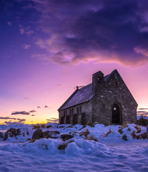Church At Lake Tekapo, New Zealand  Landscape photography