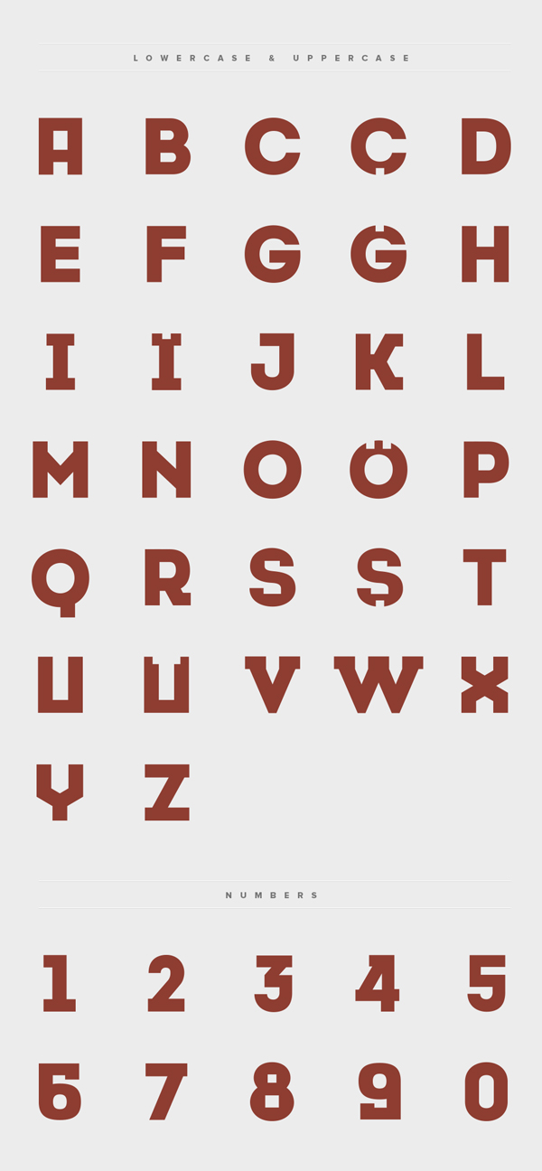 Cansiparane font letters