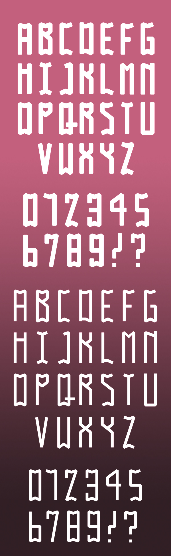 Gobo font letters
