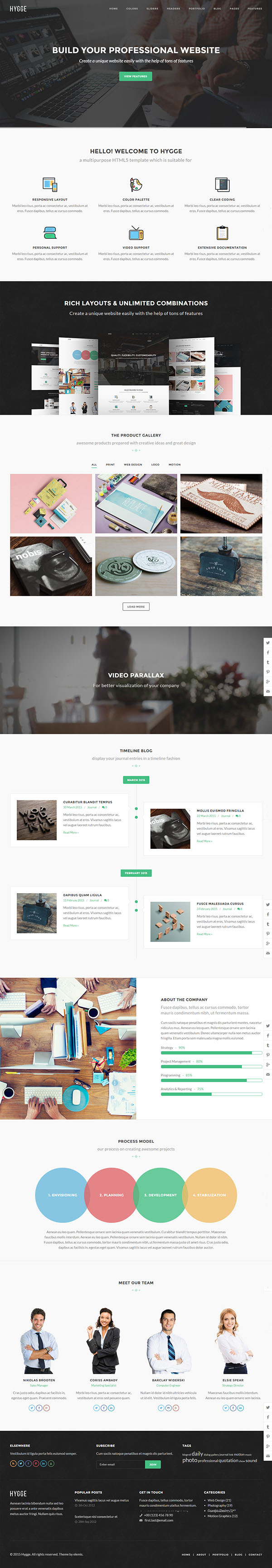 Hygge - Multipurpose Single/Multi Page Template