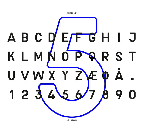 New Industry font letters