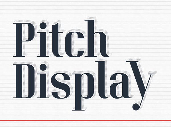 Pitch Display free font