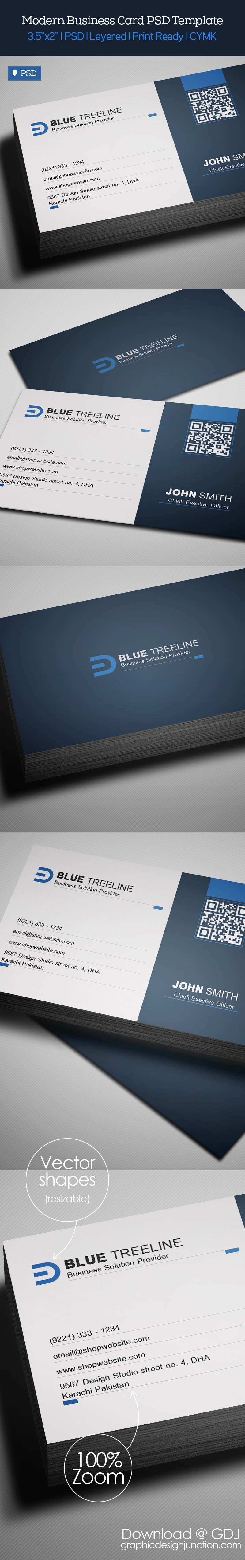Free modern business card psd template freebies for Free business card templates psd