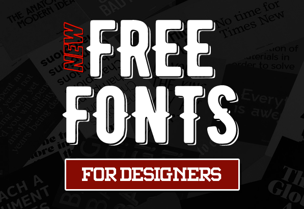 16 Fresh Free Fonts for Designers