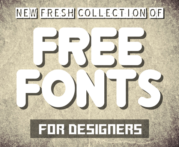 14 New Modernistic Free Fonts for Designers