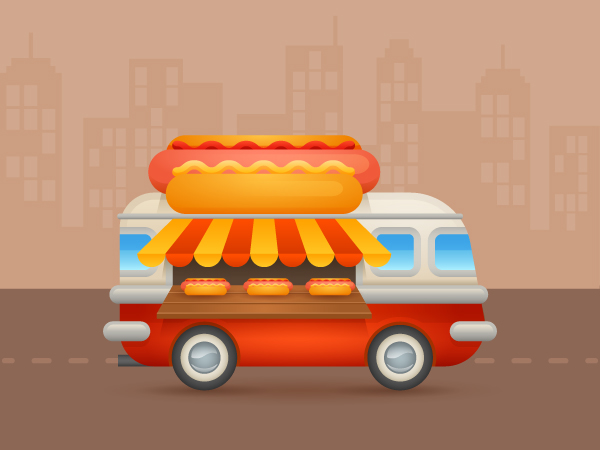 Create a Colorful Cartoon Hot-Dog Van in Adobe Illustrator