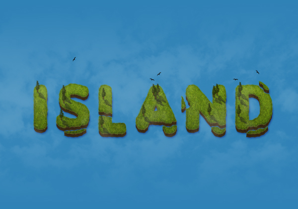 Create an Island Text Effect in Adobe Photoshop