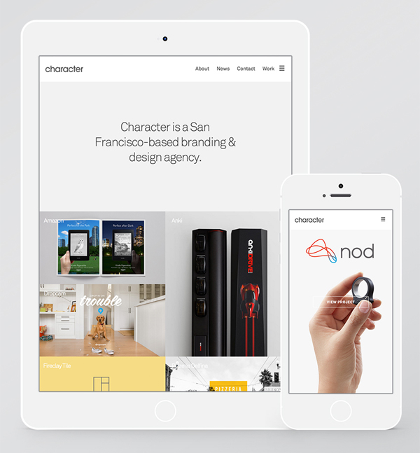 Responsive home page design