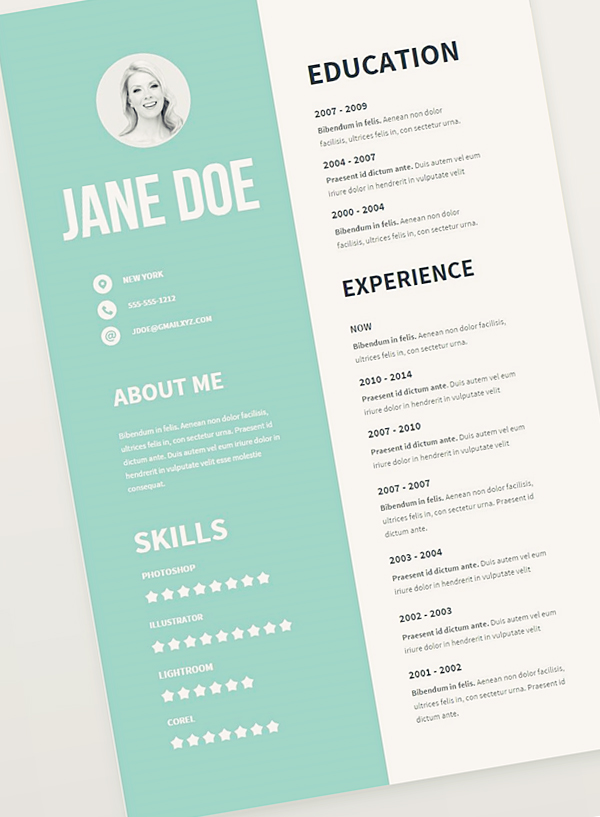 resume template create free online youtube channel art banner eps