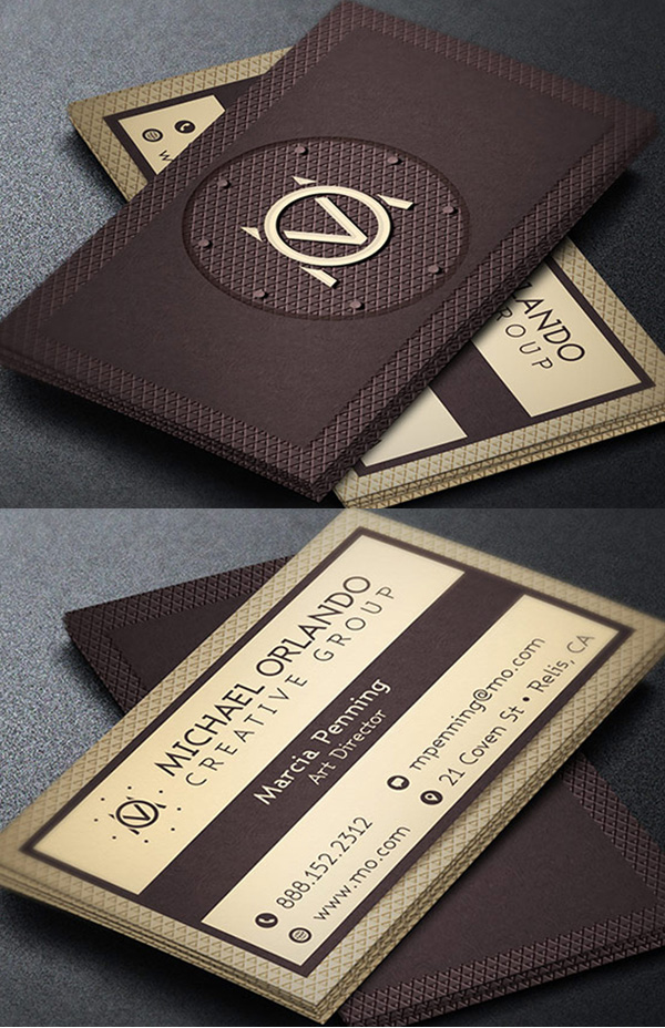 25 New Elegant Business Card PSD Templates
