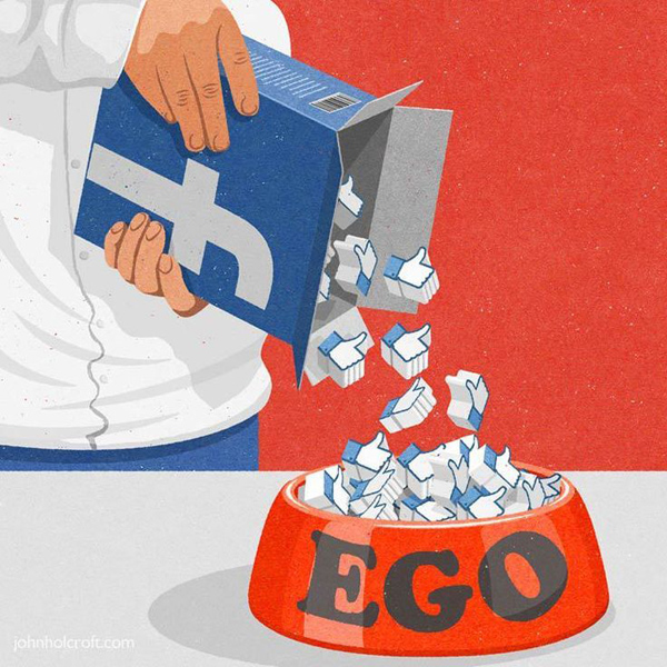 Facebook - Feeding your ego...