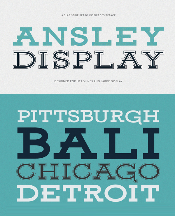 Ansley Display Free Font